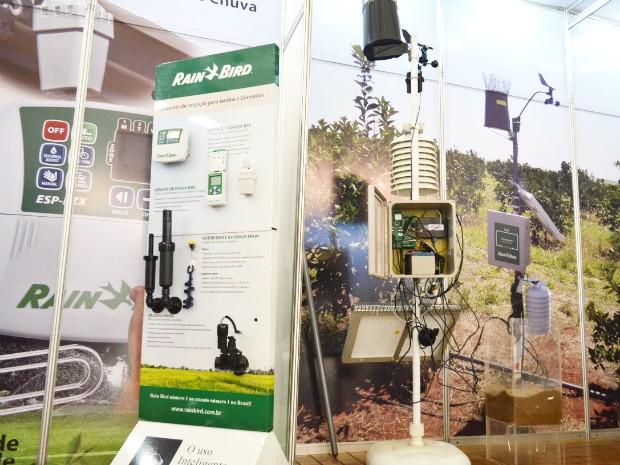 Sistema monitora dados climáticos e do solo em tempo real (Foto: Adriano Oliveira/G1)
