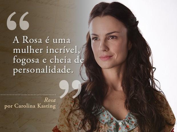 Card Rosa - Carolina Kasting (Foto: Fábio Rocha/Gshow)