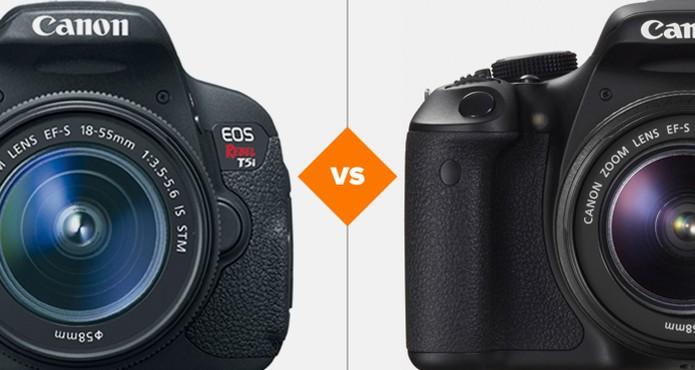 Comparativo Rebel T3i e T5i (Foto: Arte/TechTudo)