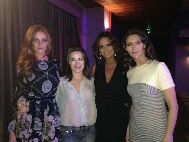 Cintia, Alessandra Maestrini, Luiza Brunet e Maria Fernanda Cândido (Foto: TV Globo/Perla Rodrigues)