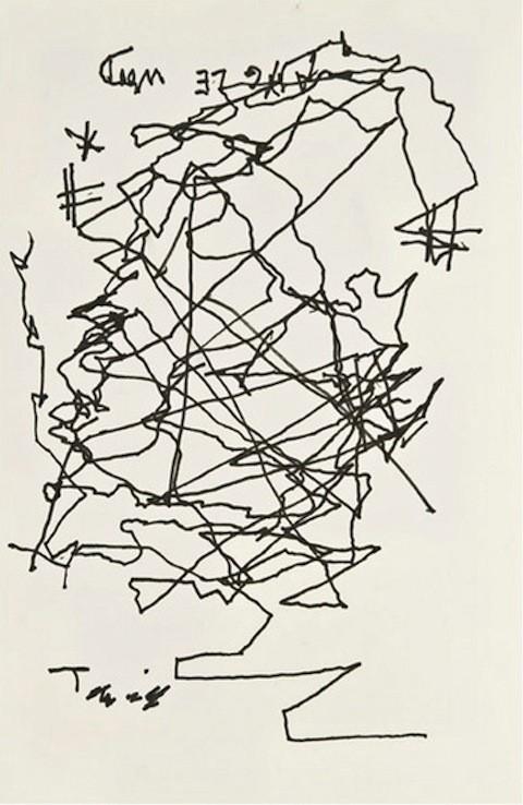 O autorretrato de Jorge Luis Borges (Foto: Reprodução)