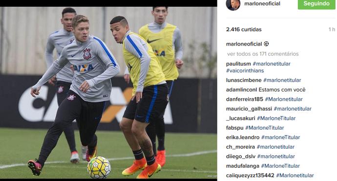 Marlone recebe apoio no Instagram (Foto: Reprodução do Instagram)