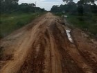 Moradores reclamam de atoleiro e obra inacabada em rodovia de MT