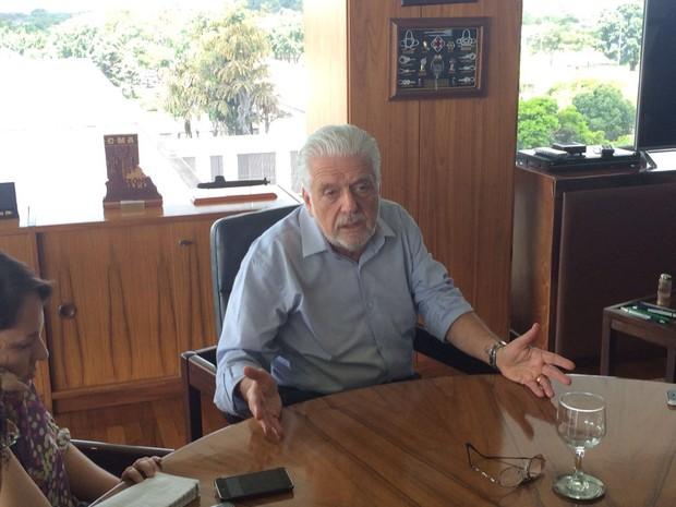 Ministro da Casa Civil recebeu jornalistas no Palácio do Planalto (Foto: Filipe Matoso/G1)