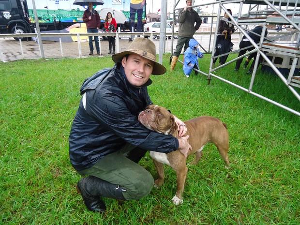 Conan, cão de Albers, é criado em um sítio em Gravataí e participou de desfile na Expointer (Foto: Felipe Truda/G1)