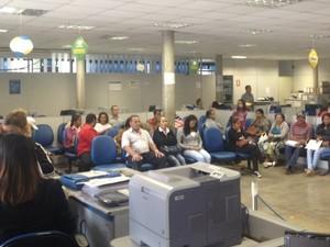 Agência funciona normalmente no Setor dos Funcionários, em Aparecida de Goiânia, Goiás (Foto: Táliton Andrade/ G1)