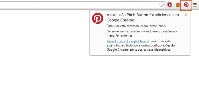 O botão será exibido no topo direito do navegador  (Foto: Reprodução/Barbara Mannara)
