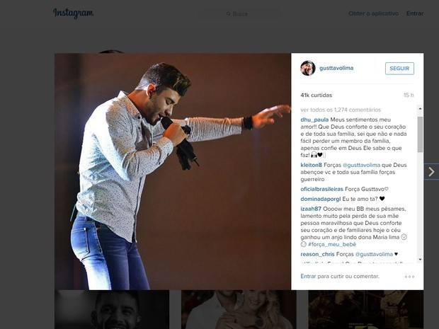 Fãs instagram Gusttavo Lima (Foto: Reprodução/Istagram)