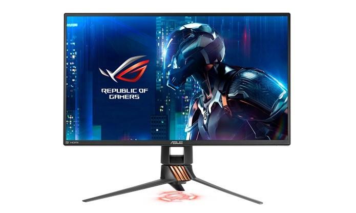 Monitor gamer possui sistema de LED personalizável e alta taxa de atualização (Foto: Divulgação/ASUS)
