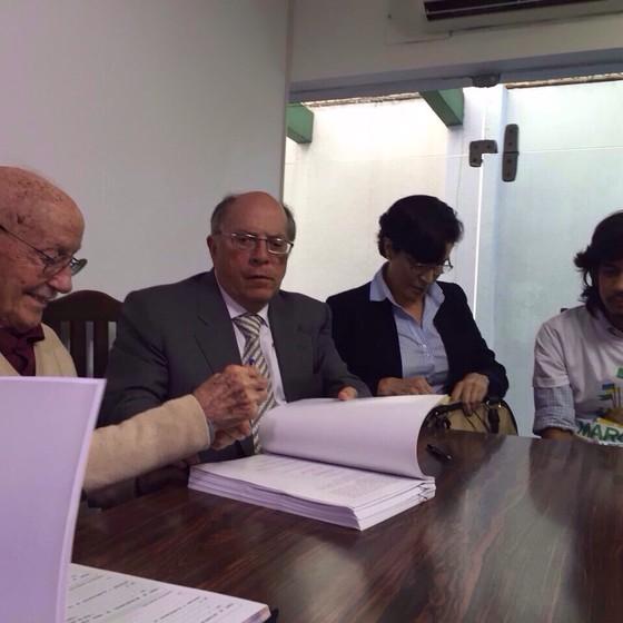 Bicudo esteve presente em reunião com lideranças pró-impeachment como Kim Kataguiri, do Movimento Brasil Livre (Foto: Reprodução)