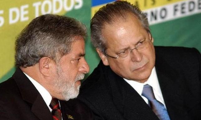 Lula e José Dirceu (Foto: José Cruz / Agência Brasil )
