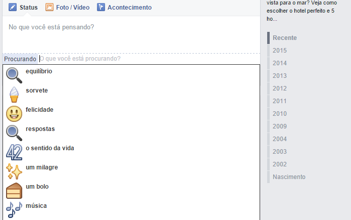 Facebook disponibilizou nova atualização de status com opções bem humoradas (Foto: Reprodução/Aline Jesus) (Foto: Facebook disponibilizou nova atualização de status com opções bem humoradas (Foto: Reprodução/Aline Jesus))