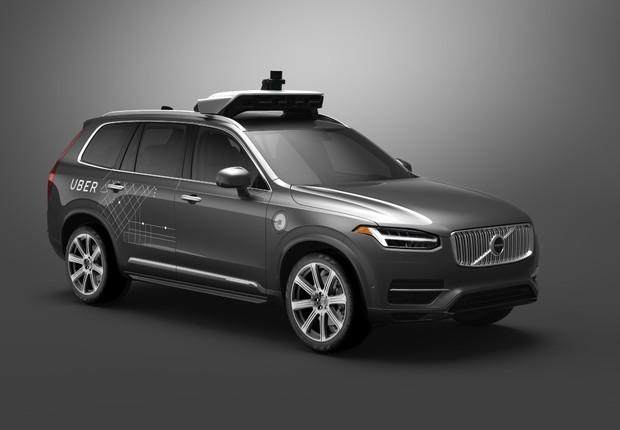 Carro autônomo desenvolvido pela Volvo em parceria com Uber (Foto: Divulgação)