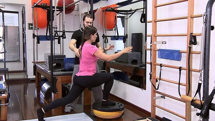 Benefícios do pilates funcional (Foto: TV Sergipe)