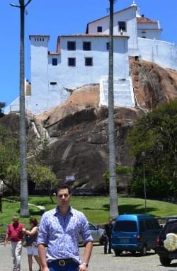 Pedro Leonardo no Convento da Penha (Foto: Juliana Borges/G1 ES)