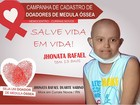 Família procura doador de medula para menino com leucemia no RN