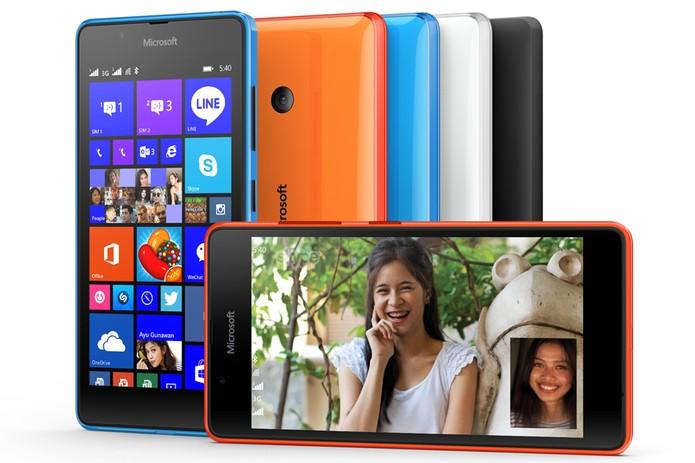 c215956cb54 Lumia 540 é apresentado pela Microsoft com câmera selfie e tela HD de 5  polegadas (