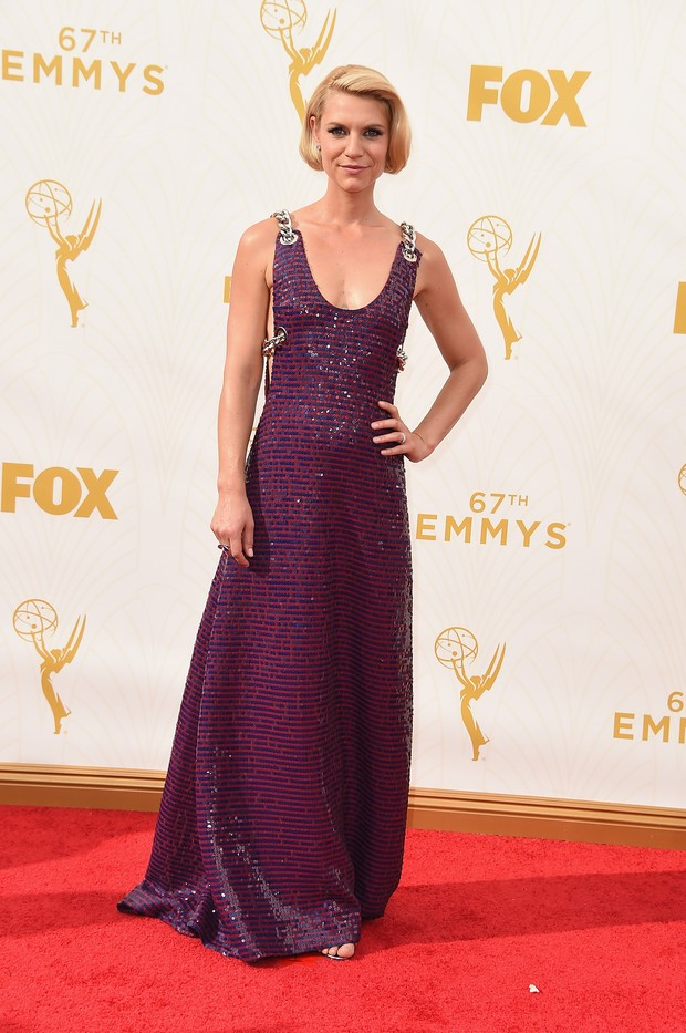 Claire Danes no Emmy Awards (Foto: Getty Images)