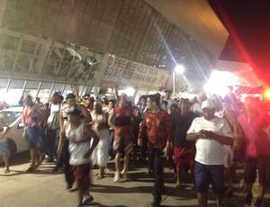 Torcida do Flamengo em Cuiabá (Foto: Cahê Mota)
