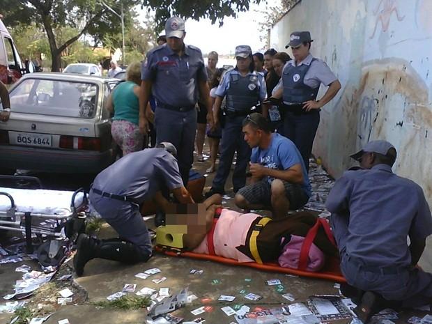 Mulher morreu três dias depois da queda (Foto: Gleise Keller Assunção/ Jornal Bom Dia)
