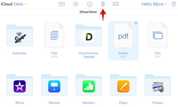 Apagando arquivo do iCloud Drive (Foto: Reprodução/Helito Bijora)