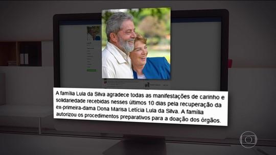 Marisa Letícia não tem mais circulação sanguínea no cérebro