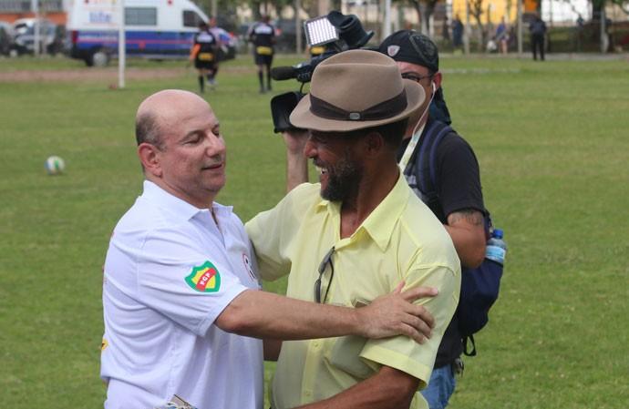 Presidente da AGFF acompanha a final do Estadual  (Foto: Beto Azambuja/GloboEsporte.com)