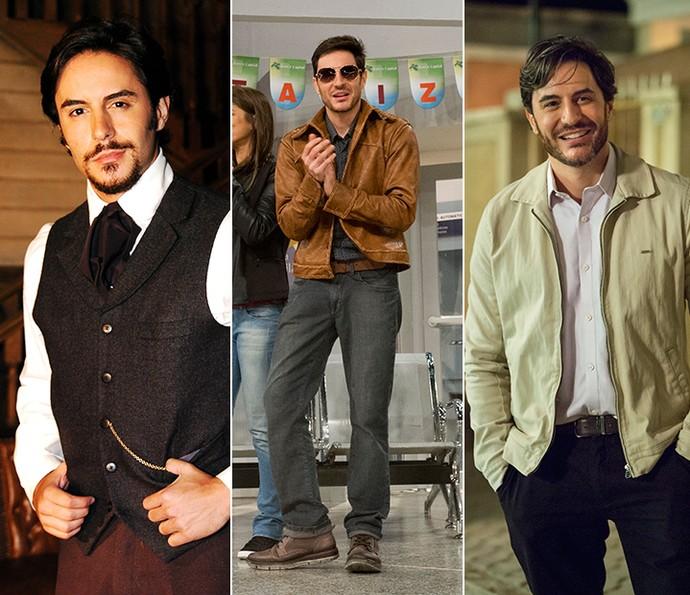 Ricardo Tozzi em 'Bang Bang', 'Tomara que Caia' e 'A Lei do Amor' (Foto: Gshow)