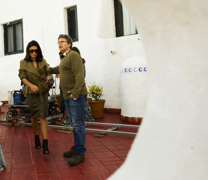 Juliana Paes rodou cenas de Carolina na Casapueblo, em Punta del Leste (Foto: João Miguel Júnior/Globo)
