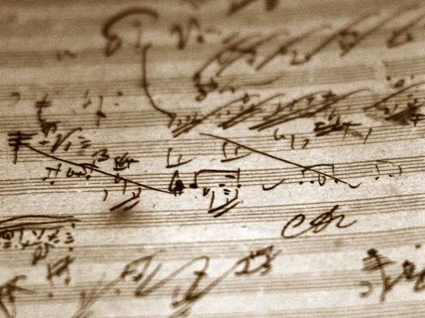 Manuscrito autografado por Beethoven faz parte do acervo (Foto: Denise Applewhite/Divulgação/Princeton University)