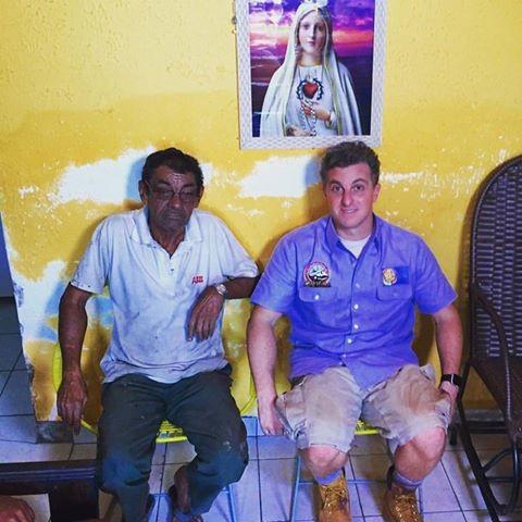 Luciano e seu Antônio personagem do Lata Velha deste sábado (14) (Foto: Arquivo Pessoal)