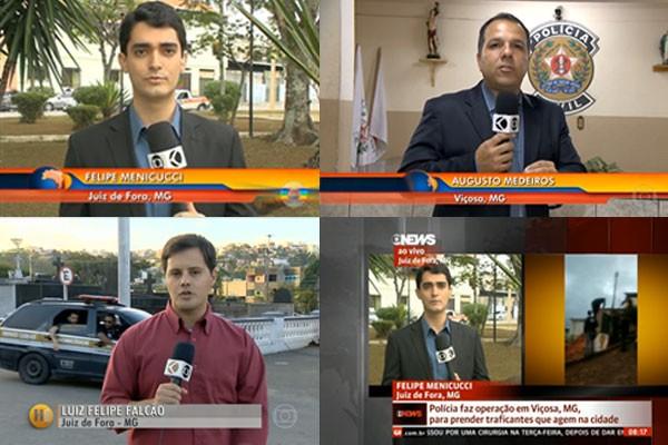 Equipes de jornalismo de Juiz de Fora contribuiram com jornais da Rede Globo (Foto: Divulgação   TV Integração )
