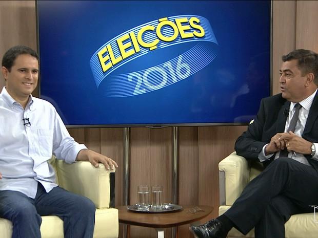 Edivaldo Holanda Júnior em entrevista ao JMTV 2ª edição, na TV Mirante (Foto: Reprodução/TV Mirante)