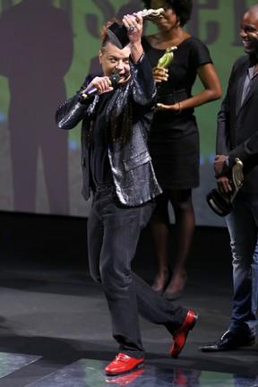 David Brazil em prêmio no Rio (Foto: Roberto Filho/ Ag. News)