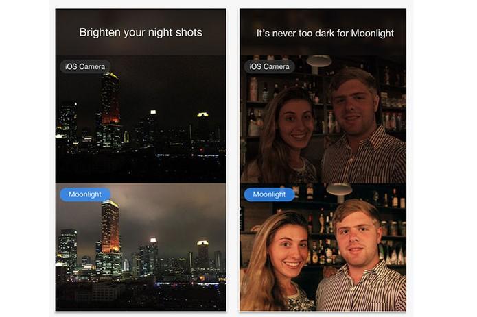 App Moonlight no iOS promete melhor resultado de iluminação noturna (Foto: Divulgação/Moonlight)