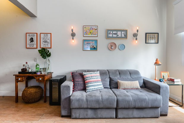 Decoração prática e colorida transformou apartamento alugado (Foto: Divulgação)