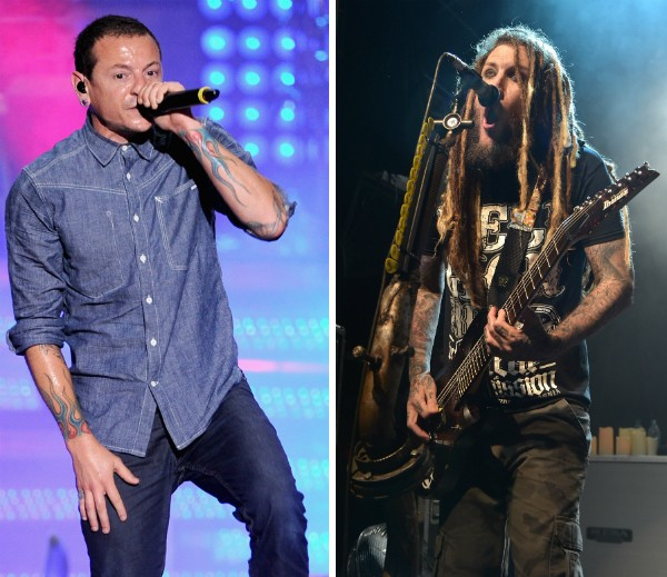 Os músicos Chester Bennington e Brian 'Head' Welch (Foto: Getty Images)