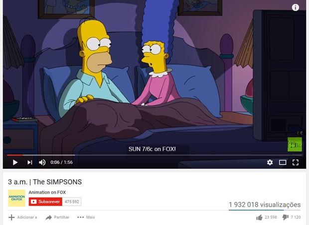 Marge 'convence' Homer a não votar em Trumpo em clipe que nesta segunda tinha mais de 1,9 milhão de visualizações (Foto: Reprodução/Youtube)
