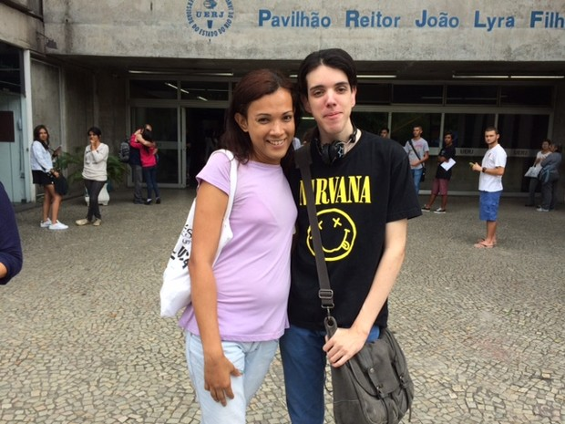 Thifany Isabela Branco usou seu nome social para fazer a prova do Enem na Uerj  (Foto: Janaina Carvalho/G1)