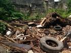 Terreno vira depósito de lixo em São Vicente, SP: 'A situação é horrível'