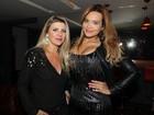 Geisy Arruda e Iris Stefanelli vão a gravação de DVD de cantor sertanejo