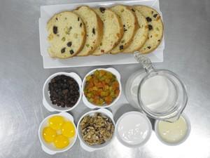 Ingredientes Pavê de Panetone (Foto: Natália Clementin / G1)