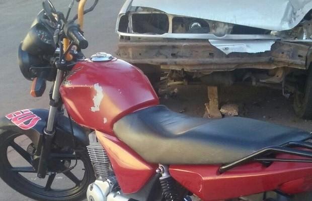 Eletricista reconhece moto roubada ao ver vídeo de caixão que caiu em rua em Goiás (Foto: Arquivo pessoal / Luiz Paulo Silva)