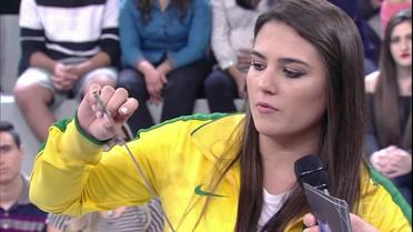 Esgrimista Amanda Simeão fala sobre Olimpíada