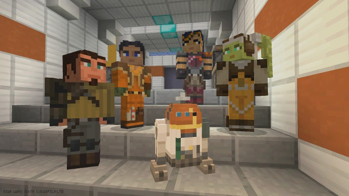 Minecraft recebeu 23 novas skins baseadas na animação Star Wars Rebels (Foto: Divulgação)