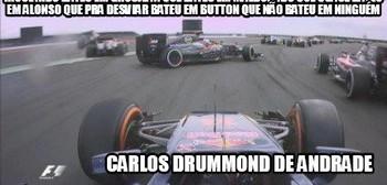 Quadrilha, Carlos Drummond de Andrade, na Fórmula 1 (Foto: Reprodução/Twitter)