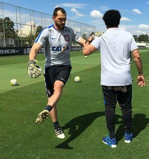Walter treino Corinthians (Foto: Daniel Augusto Jr / Agência Corinthians)