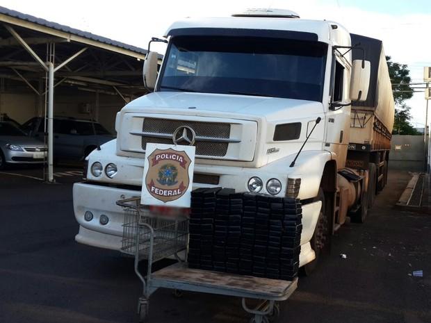 caminhão, Cruz Alta, RS, droga (Foto: Divulgação/Polícia Federal)