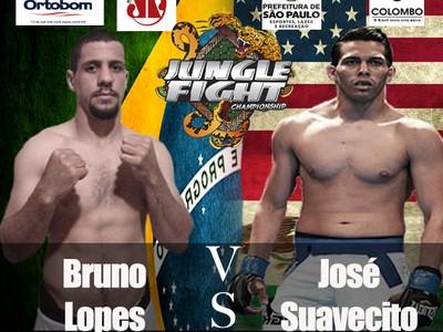 Novo Pôster Jungle Fight 76 Bruno Lopes José Suavecito Diaz (Foto: Divulgação)