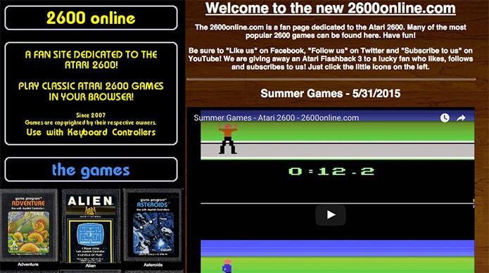 2600 Online traz uma seleção de jogos de Atari (Foto: Reprodução/Felipe Vinha)